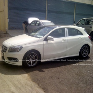 2013 Mercedes A-Class dropped camouflage in Pune