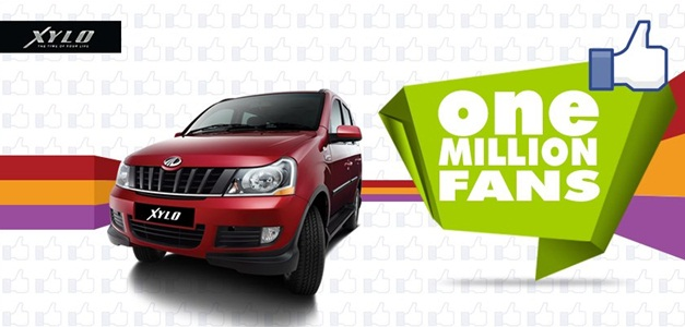 Mahindra Xylo clocks more than a million fans on Facebook