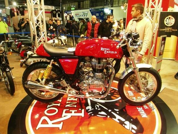 Royal Enfield Cafe Racer - SideView