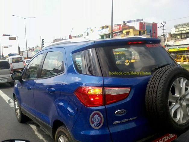 Marvelous Ford EcoSport (Spied)   RearView