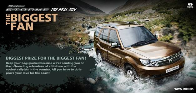 The hunt is on for the 'Biggest Fan' of the new Tata Safari Storme
