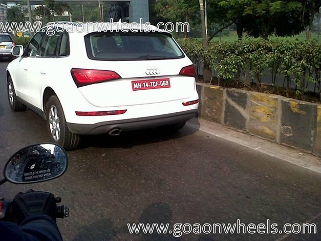 Audi Q5 facelift (spied image) - RearView
