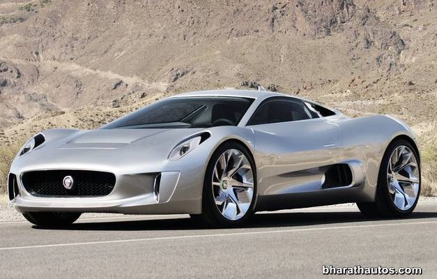 Jaguar C-X75 hybrid supercar - FrontView