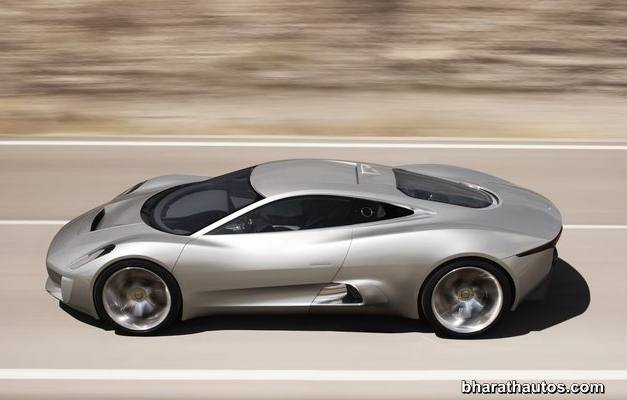 Jaguar C-X75 hybrid supercar - SideView