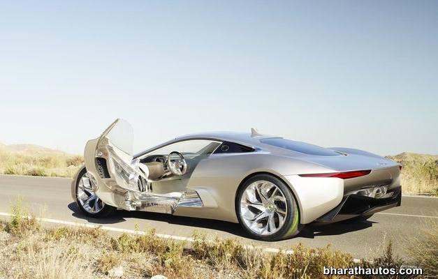 Jaguar C-X75 hybrid supercar - RearView