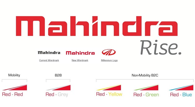 Elements of the Mahindra Group's new visual identity