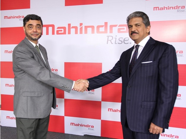 Mr. Anand Mahindra, Chairman, Mahindra Group and Mr. S.P. Shukla, President – Group Strategy and Chief Brand Officer, Mahindra Group and Member of the Group Executive Board unveiling the  new visual identity of the Mahindra Group which will be reflected across all its businesses globally from January 2013