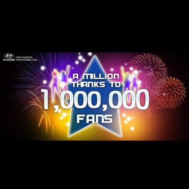 Hyundai India celebrates one million fans on facebook