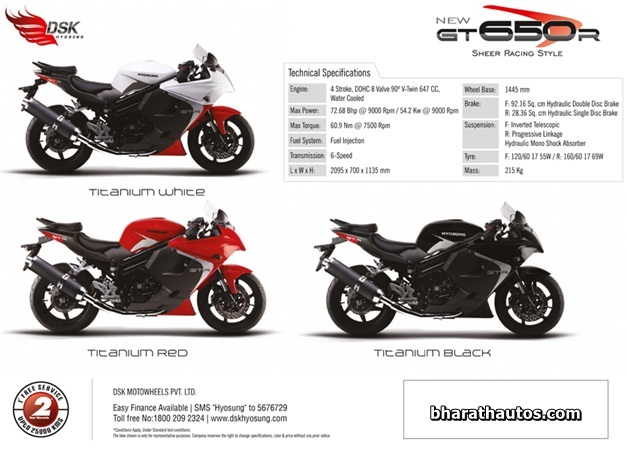 DSK-Hyosung launches 2013 GT650R and Aquila GV650 PRO superbikes in ...