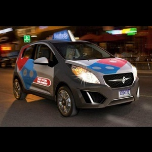 Domino's Chevrolet Beat Pizza Delivery Car