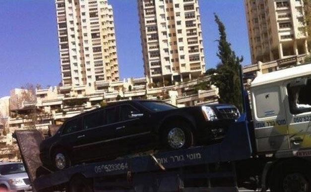 President Barack Obama's limo breaks down in Israel