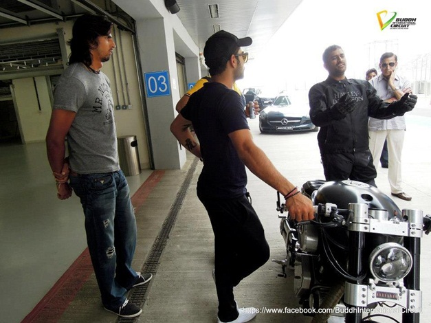MS Dhoni with his Hellcat bike - 001