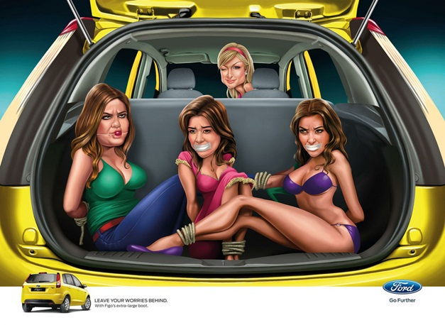 Ford Figo's unapproved ads lands in hot soup - Paris Hilton