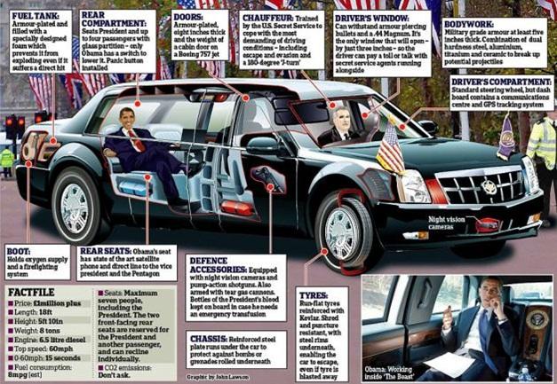 President Barack Obama's limo 'The Beast' - 002