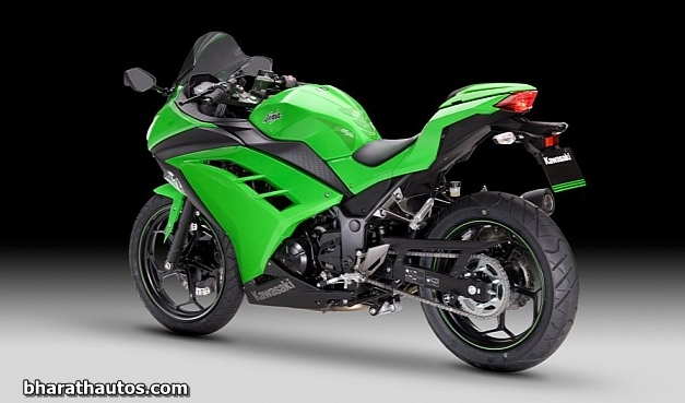 2013 kawasaki ninja 300 rearview bharathautos automobile news