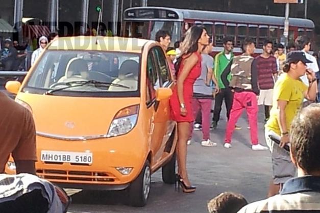 2013 Tata Nano ad-shot (Yellow) - FrontView