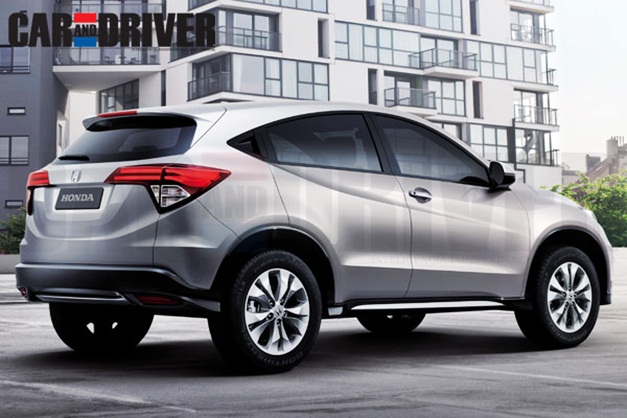 2015 Honda's compact SUV - RearView (Rendered)