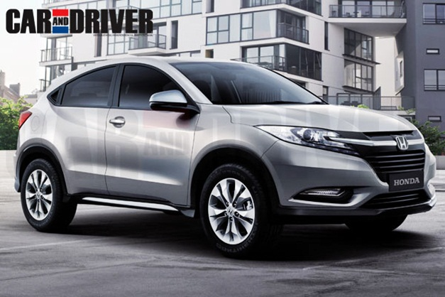 2015 Honda's compact SUV - FrontView (Rendered)