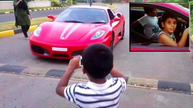9-year-old drives Ferrari F430 Scuderia in Thrissur