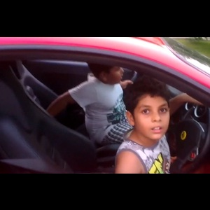 9-year-old drives Ferrari F430 Scuderia in Kochi