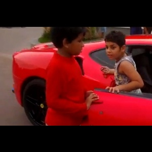 9-year-old drives Ferrari F430 Scuderia in Thrissur