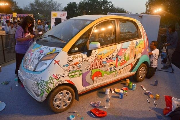 Tata Nano Art-in-motion in 'Saddi Dilli' - 002