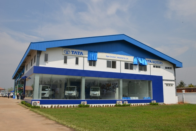 Tata Motors 3-S dealership in Yangon, Myanmar