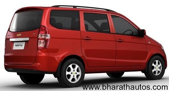 Chevrolet Enjoy MPV - RearView