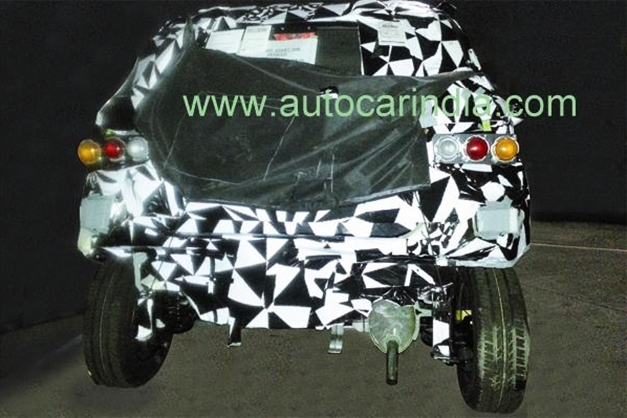 Mahindra SsangYong S101 Mini SUV (Spy picture) - RearView