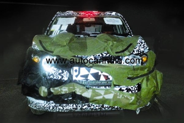 Mahindra SsangYong S101 Mini SUV (Spy picture) - FrontView