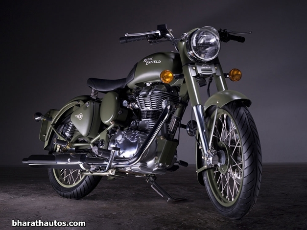2012 Royal Enfield Bullet C5 Military Battle Green - FrontView