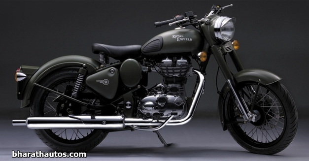 2012 Royal Enfield Bullet C5 Military Battle Green - SideView