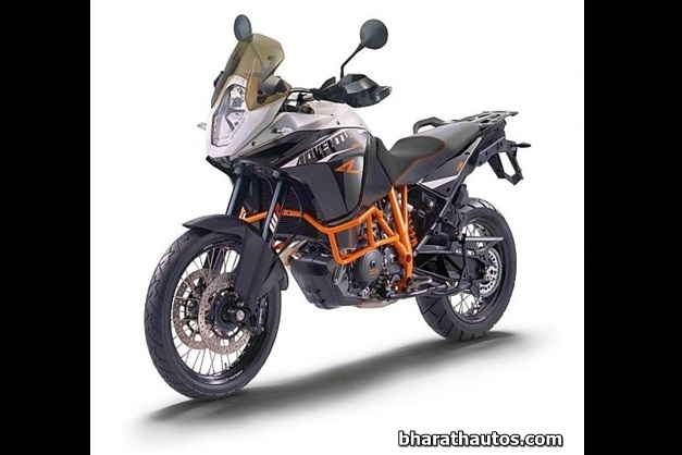 2013 KTM 1190 Adventure Touring Motorcycle - FrontView (used as an illustration)