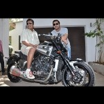 John Abraham gifts a Yamaha V-Max motorcycle to director Sanjay Gupta
