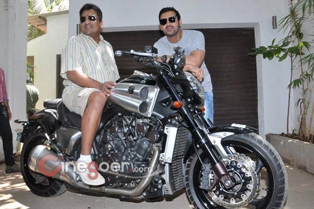 John Abraham gifts a Yamaha V-Max bike to director Sanjay Gupta - 001