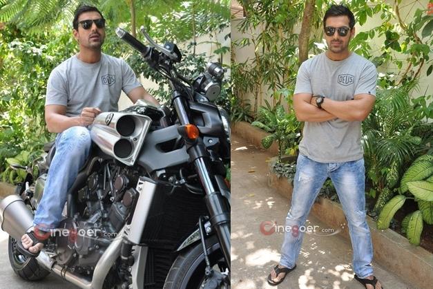 John Abraham gifts a Yamaha V-Max bike to director Sanjay Gupta - 003