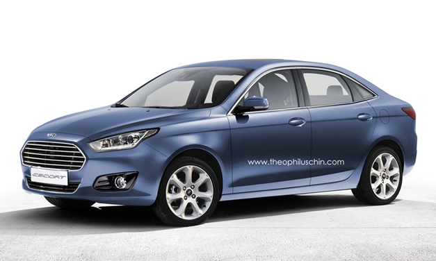 2013 Ford Escort production model (rendered)