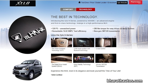 H-Series Mahindra Xylo - Technology
