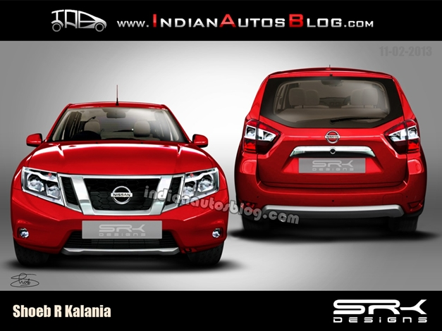 Nissan Duster rendered picture