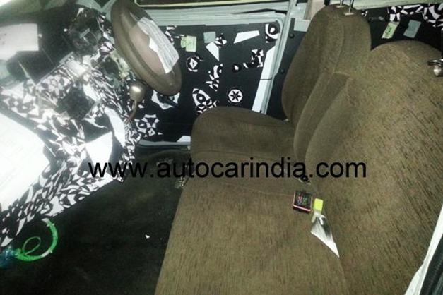 5+1 seating arrangement for the new Mahindra SsangYong S101 mini SUV (Spy picture)