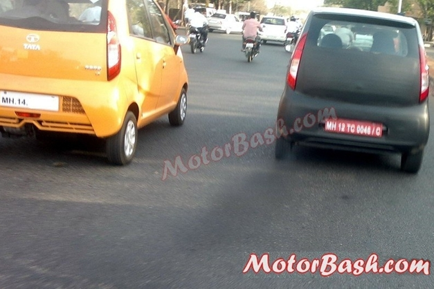 2013 Tata Nano Diesel caught alongside the regular on-sale Nano and you can yourself make out the changes.