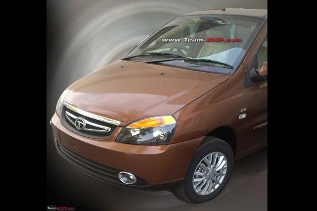 Firstever snaps of 2013 Tata Indigo eCS facelift dropped camouflage