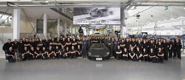 A milestone for Automobili Lamborghini: 2,000 Aventadors produced