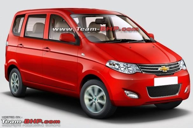 Chevrolet's compact version of Enjoy MPV rendered by Team-Bhpian named JayPrashanth