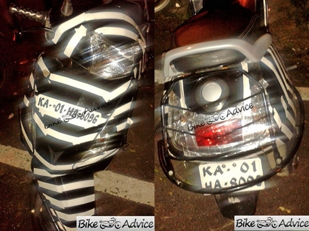 Upcoming TVS Male Specific 110cc Scooter based on TVS Wego spotted at Bangalore