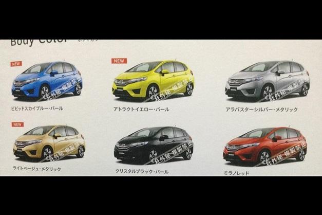Next-Gen 2015 Honda Jazz - 6 colors available