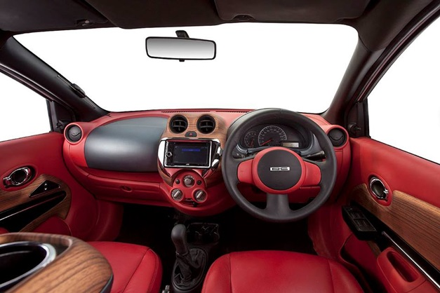 nissan sunny modified by dc offers merc s class like interior. Black Bedroom Furniture Sets. Home Design Ideas