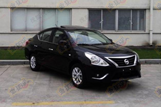 2014-Nissan-Sunny(Black)-facelift-Frontview