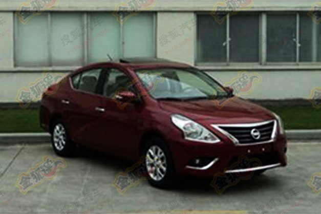 2014-Nissan-Sunny(red)-facelift-Frontview