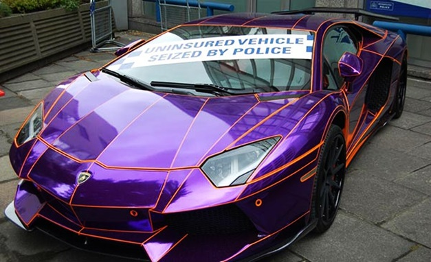 glowinthedark lamborghini aventador could be crushed by